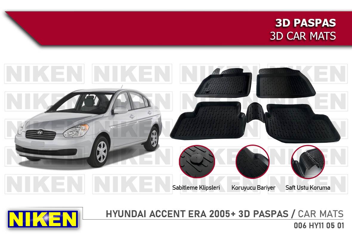 HYUNDAI ACCENT ERA 2005- 3D PASPAS
