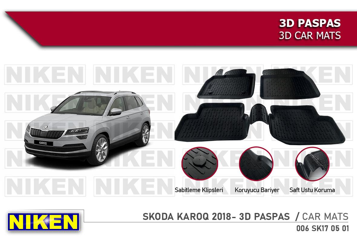 SKODA KAROQ 2018- 3D CAR MATS