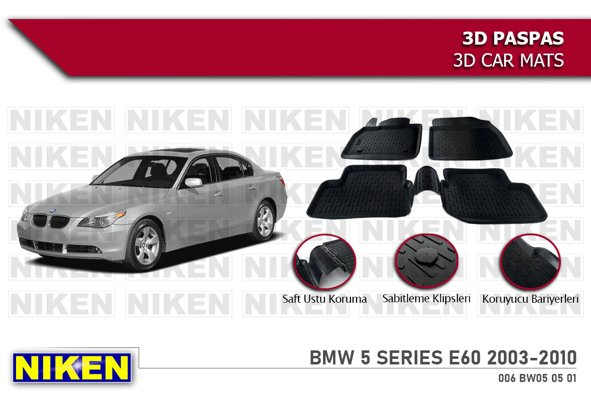 BMW 5 SERIES E60 2003-2010 3D PASPAS