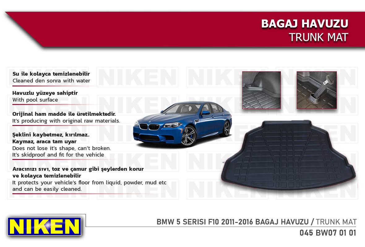 BMW 5 SERISI F10 2011-2016 BAGAJ HAVUZU