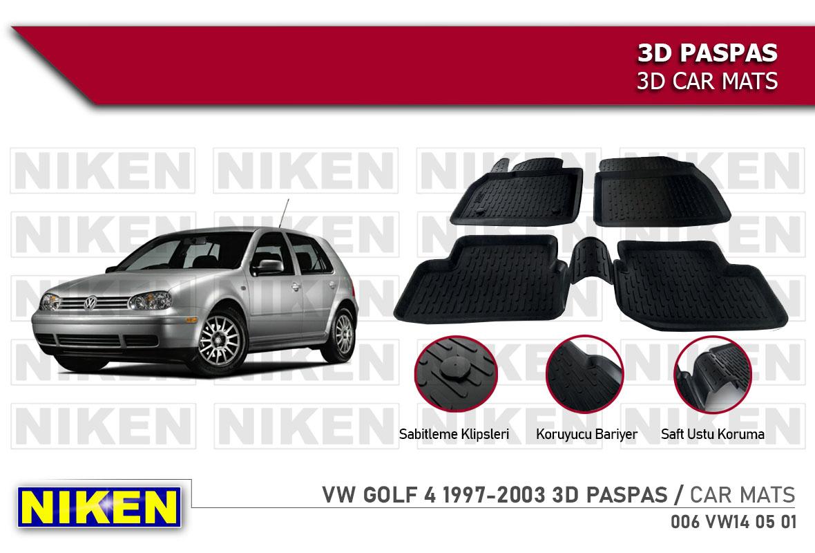 VW GOLF 4 1997-2003 3D CAR MATS