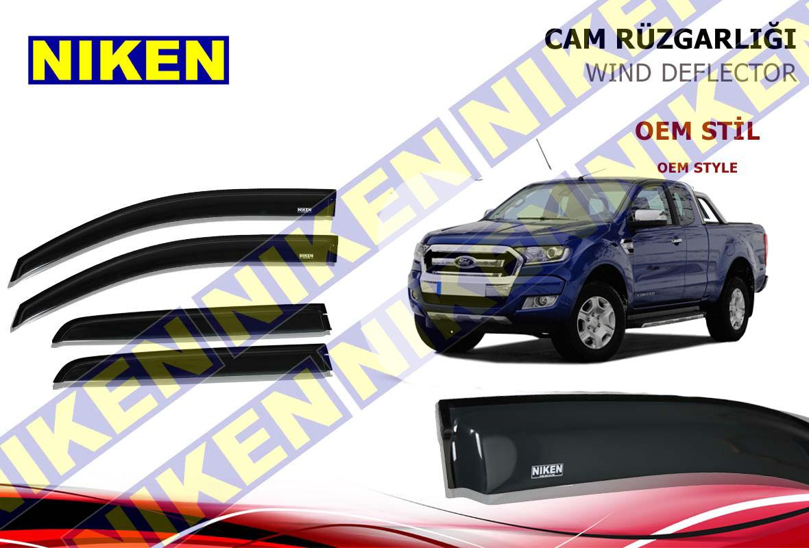 FORD RANGER 2012- CAM RÜZGARLIĞI 4LÜ