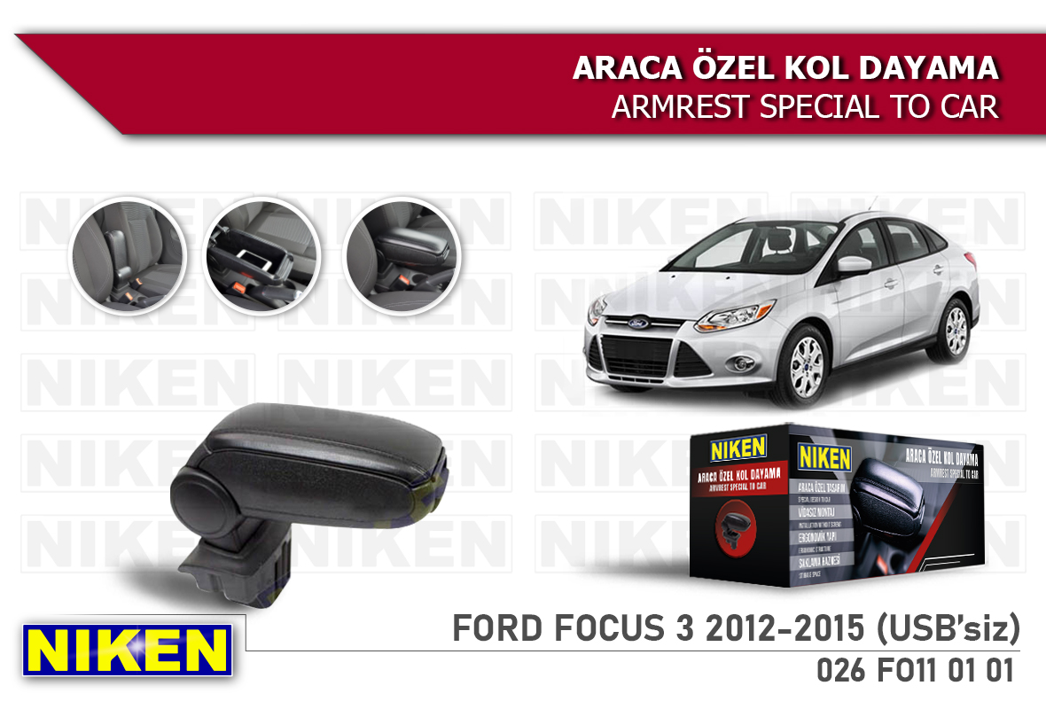 FORD FOCUS III 2012-2015 ARACA ÖZEL KOL DAY USBSİZ