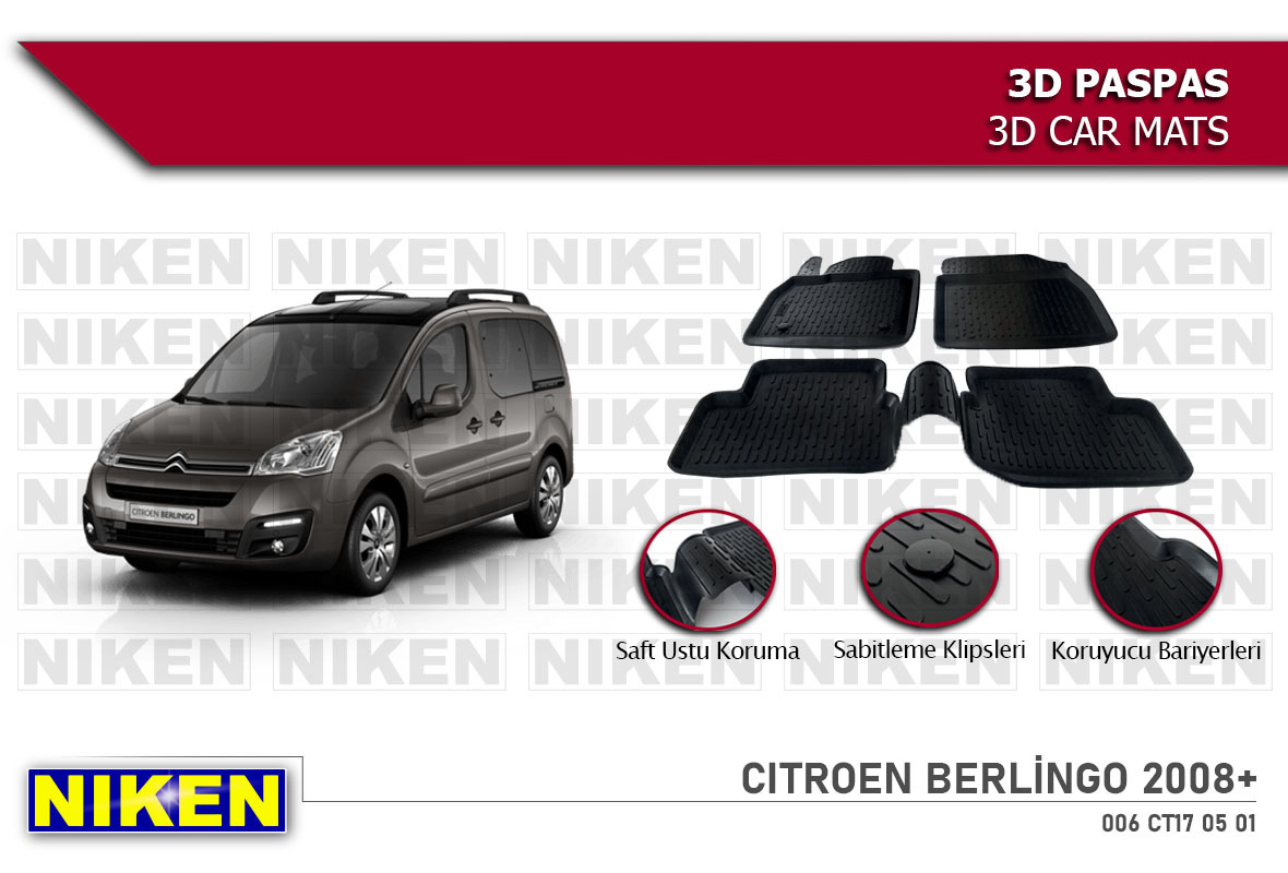 CITROEN BERLİNGO 2008- 3D PASPAS