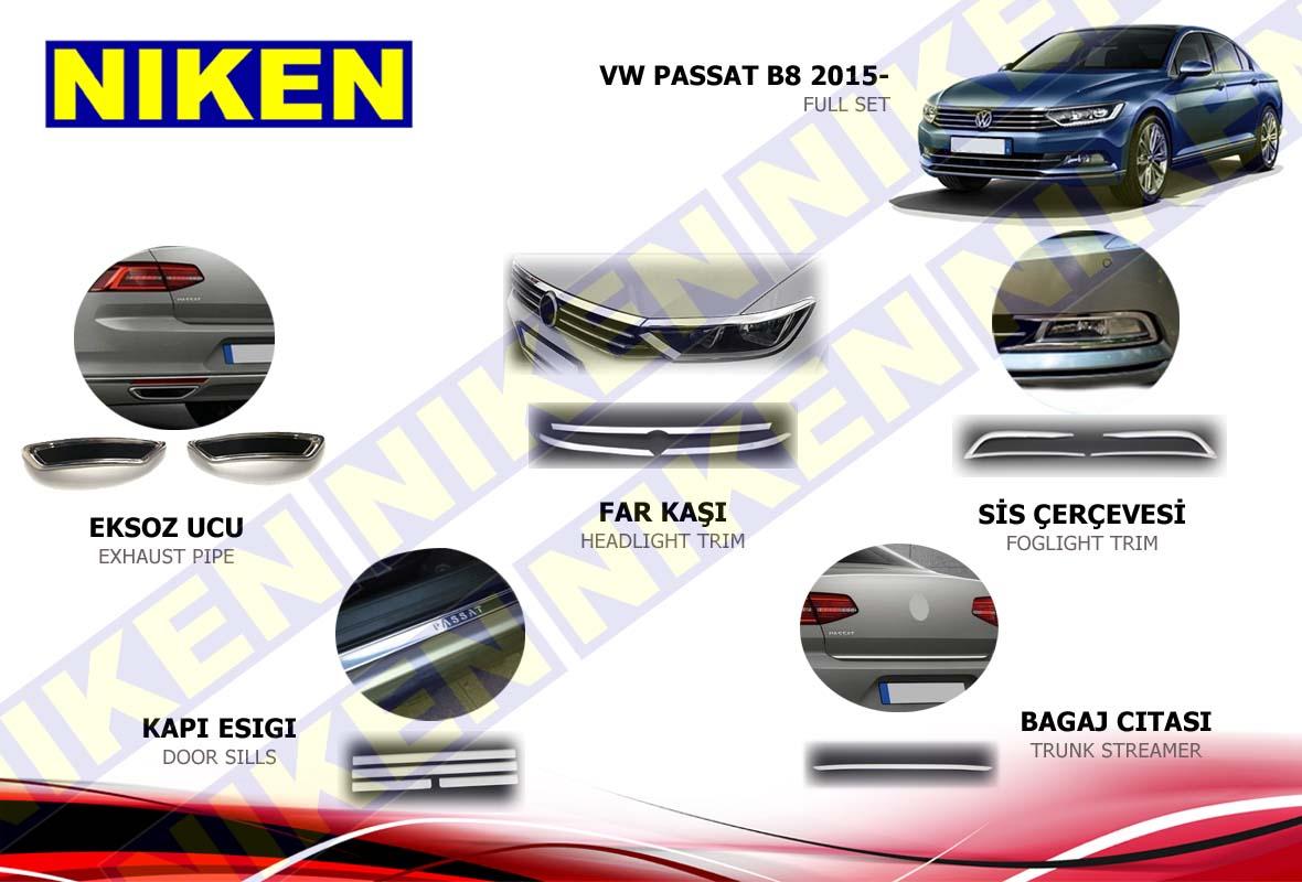 VW PASSAT 2015- B8 FULL KROM SET