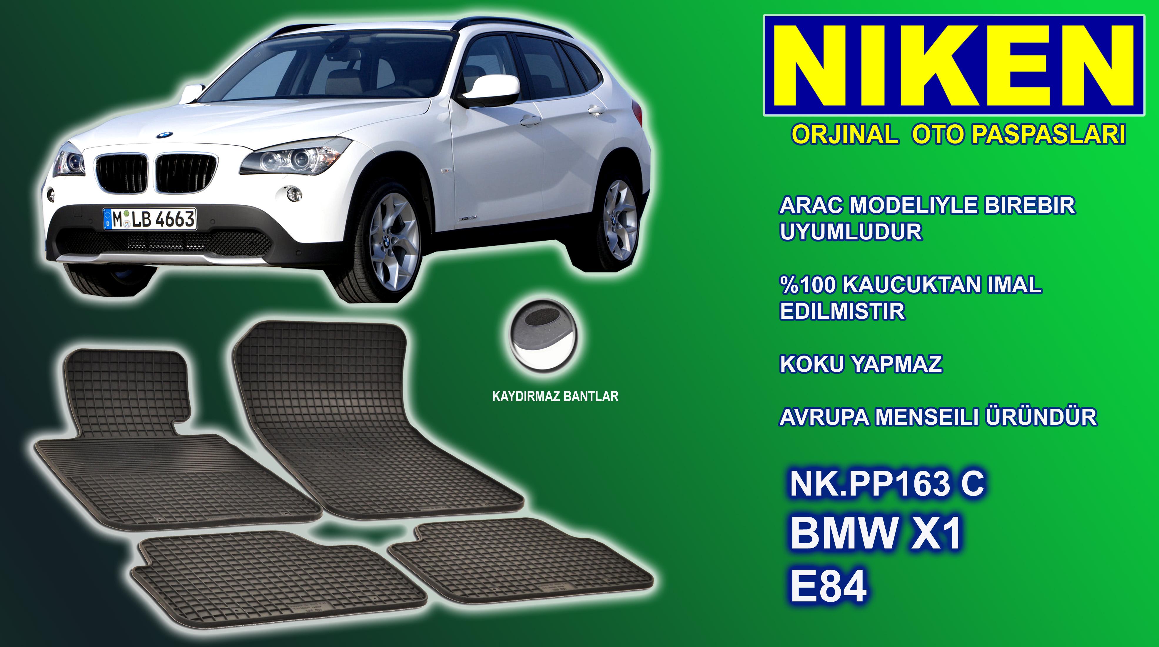 BMW X1 PASPAS 4LÜ ORJ. MONTAJ (NK.PP163C)