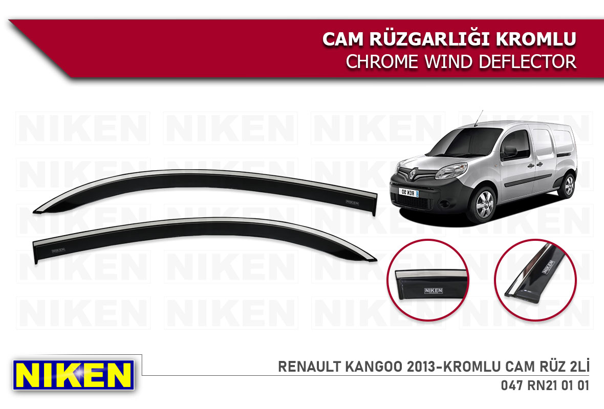 RENAULT KANGOO 2013-KROMLU CAM RÜZ 2Lİ