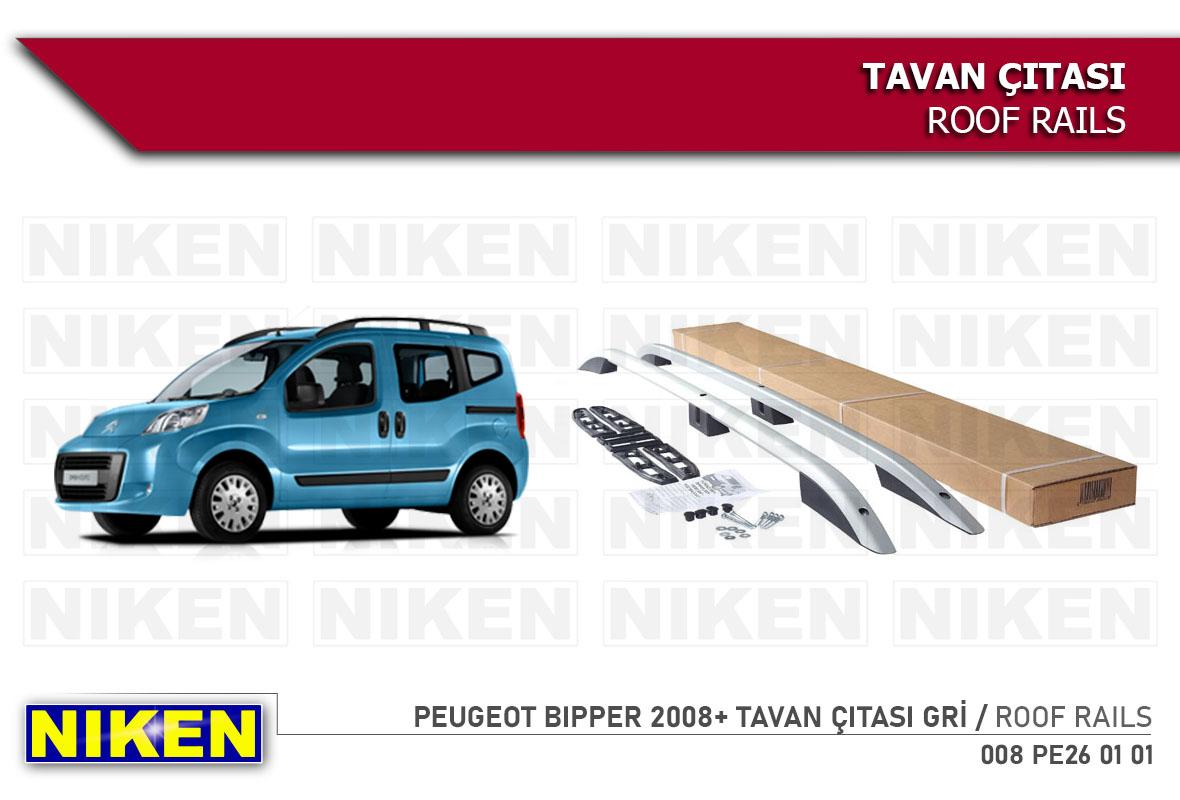 PEUGEOT BIPPER 2008- TAVAN ÇITASI KISA GRİ