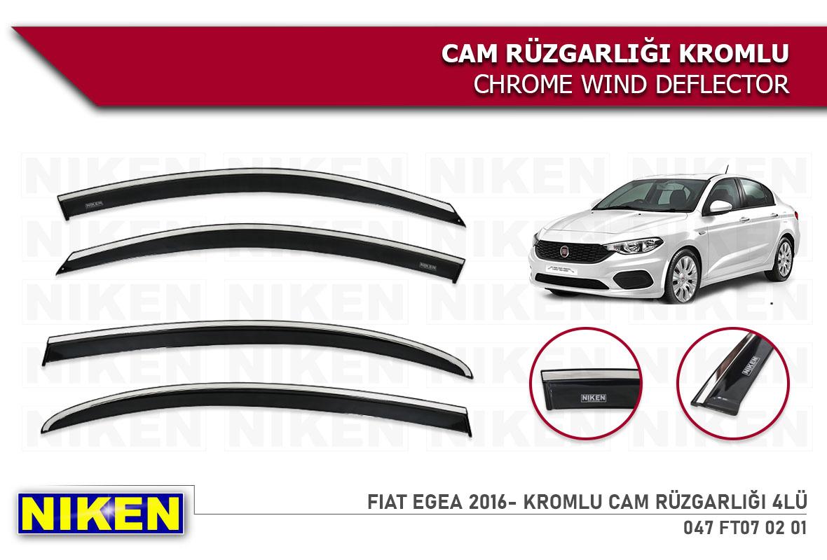 FIAT EGEA 2016- KROMLU CAM RÜZGARLIĞI 4LÜ
