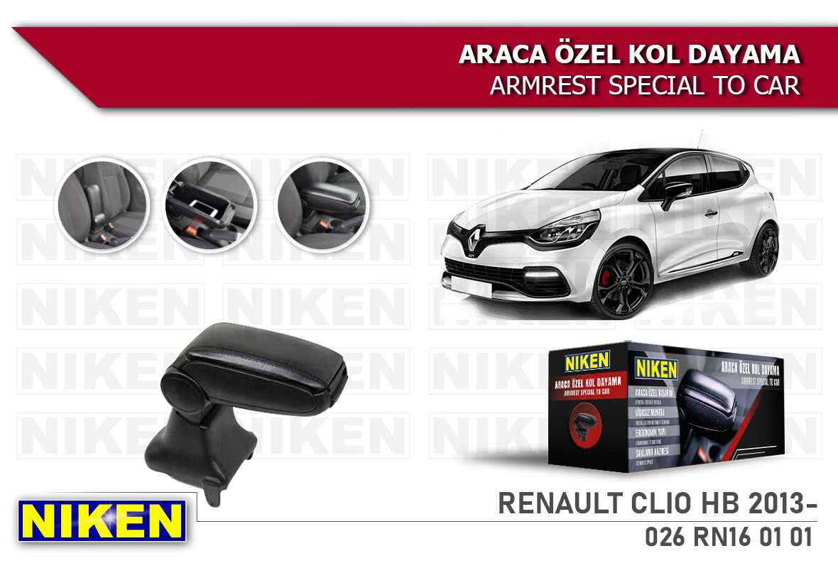 RENAULT CLIO HB 2013- ARACA ÖZEL KOL DAYAMA SİYAH