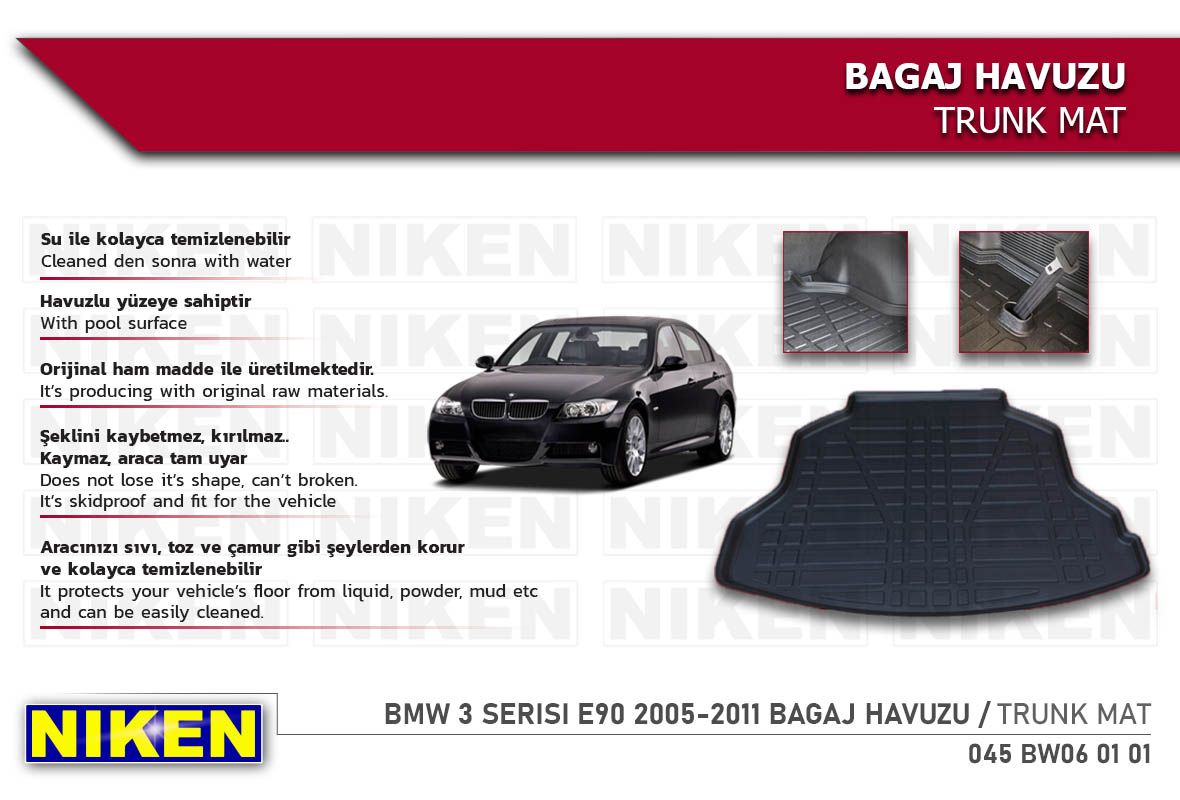 BMW 3 SERISI E90 2005-2011 BAGAJ HAVUZU