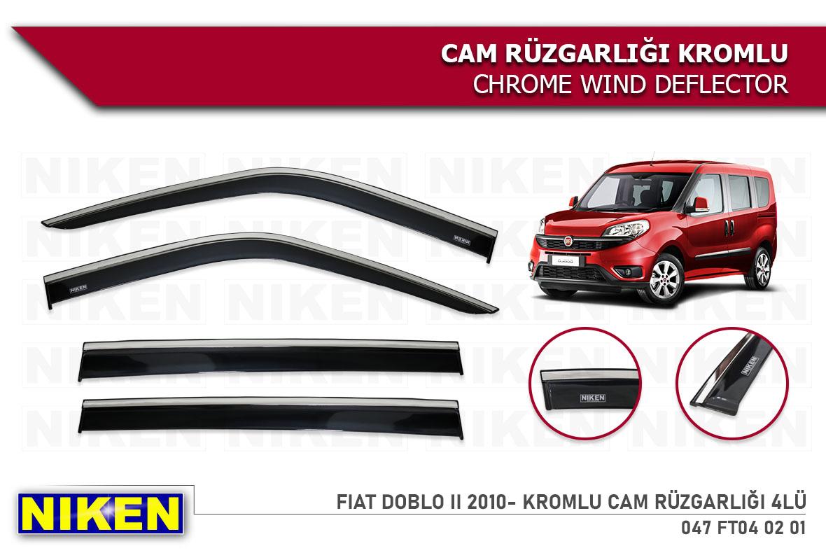 FIAT DOBLO II 2010- KROMLU CAM RÜZGARLIĞI 4LÜ