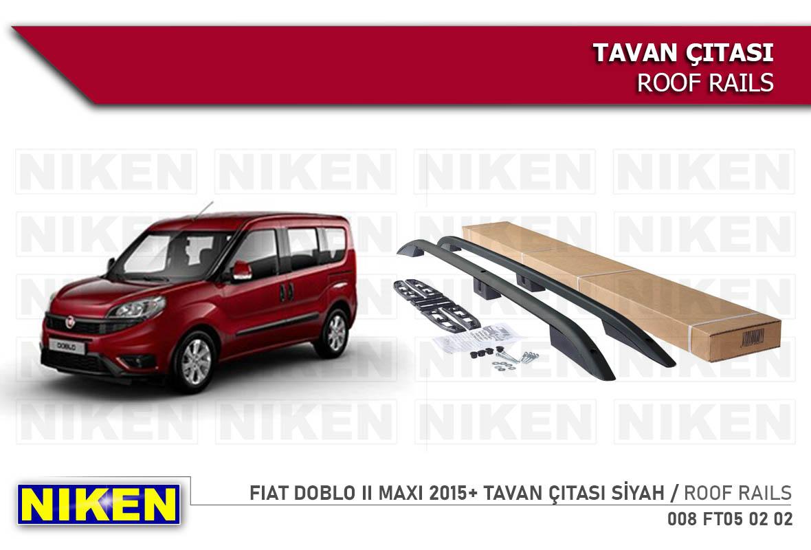 FIAT DOBLO II  MAXI 2015- TAVAN ÇITASI UZUN SİYAH
