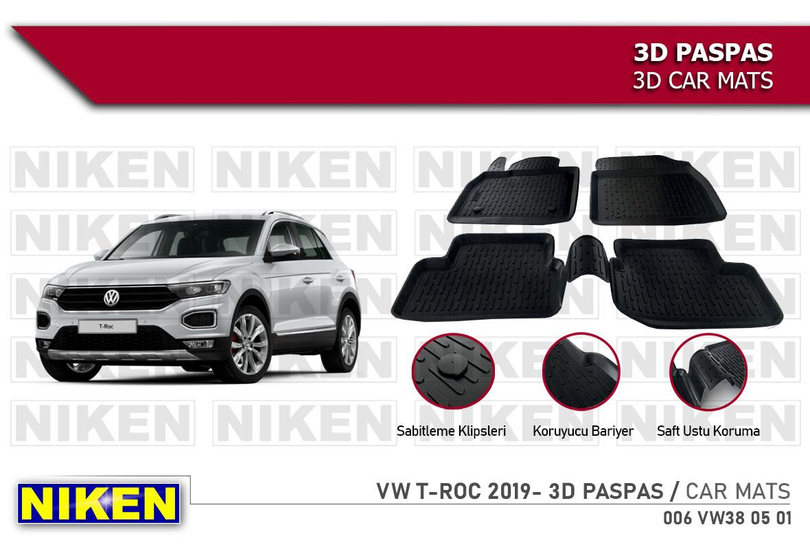 VW T-ROC 2019- 3D CAR MATS