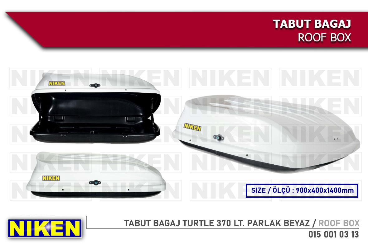 TABUT BAGAJ TURTLE 370 LT. PARLAK BEYAZ