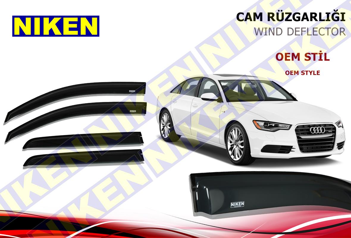 AUDI A6 / C7 2012- CAM RÜZGARLIĞI 4LÜ (PF-489)