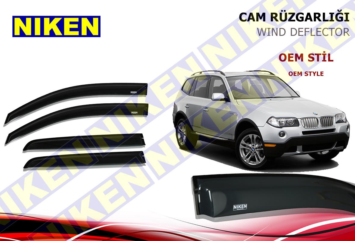 BMW X3 2003-2010 E83 CAM RÜZGARLIĞI 4LÜ (PF-229)