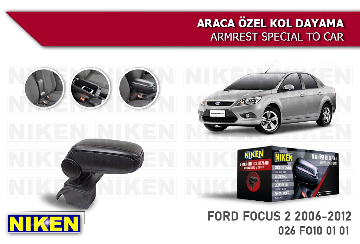 FORD FOCUS II 2006-2012 ARACA ÖZEL KOL DAYAMA SİYA