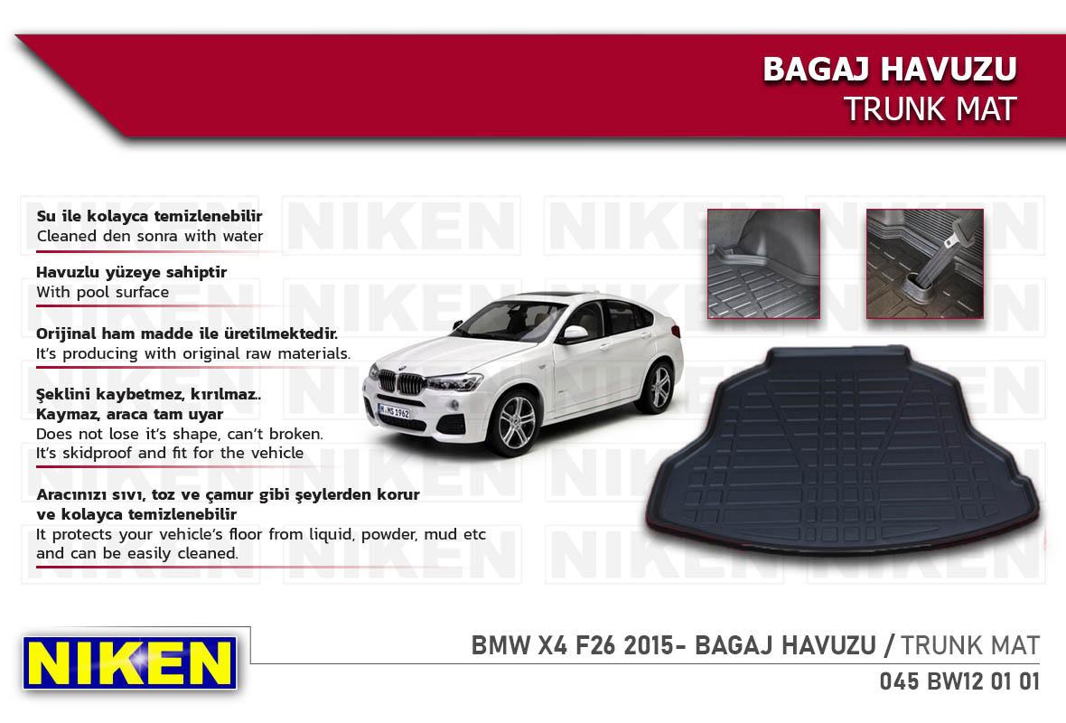 BMW X4 F26 2015- BAGAJ HAVUZU