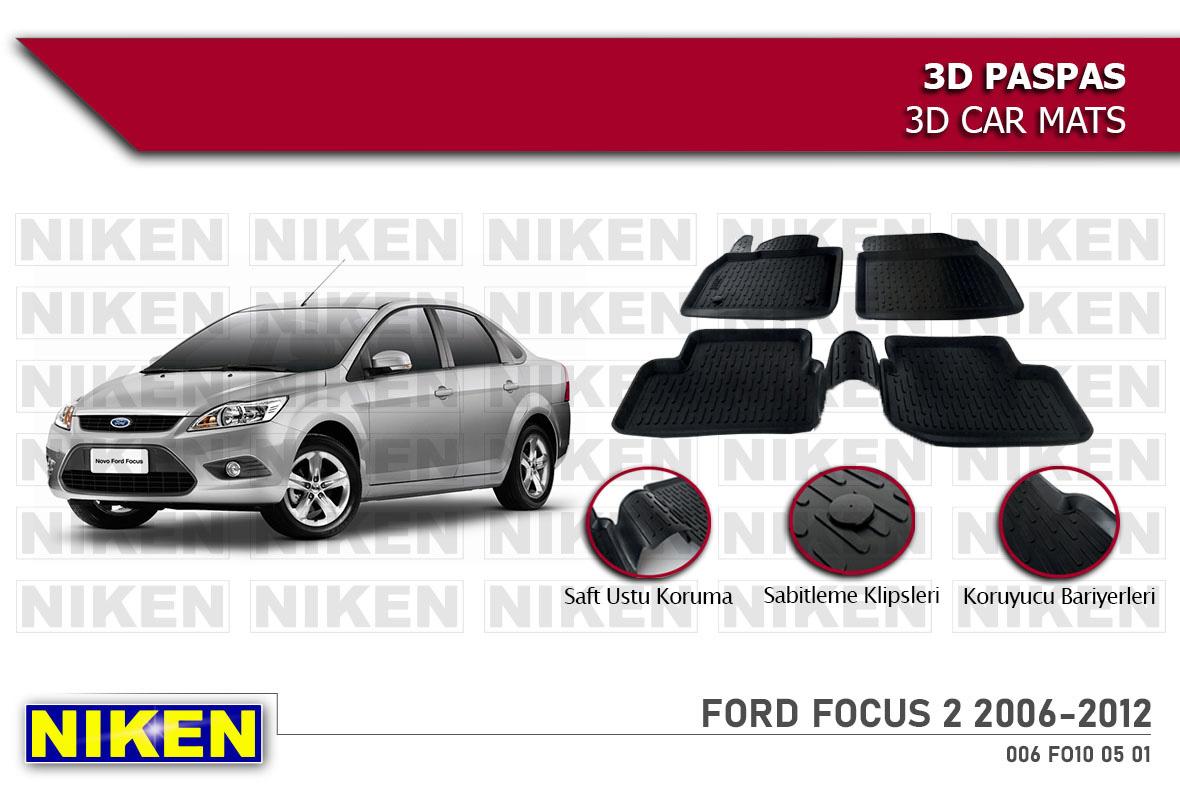FORD FOCUS 2 2006-2012 3D PASPAS