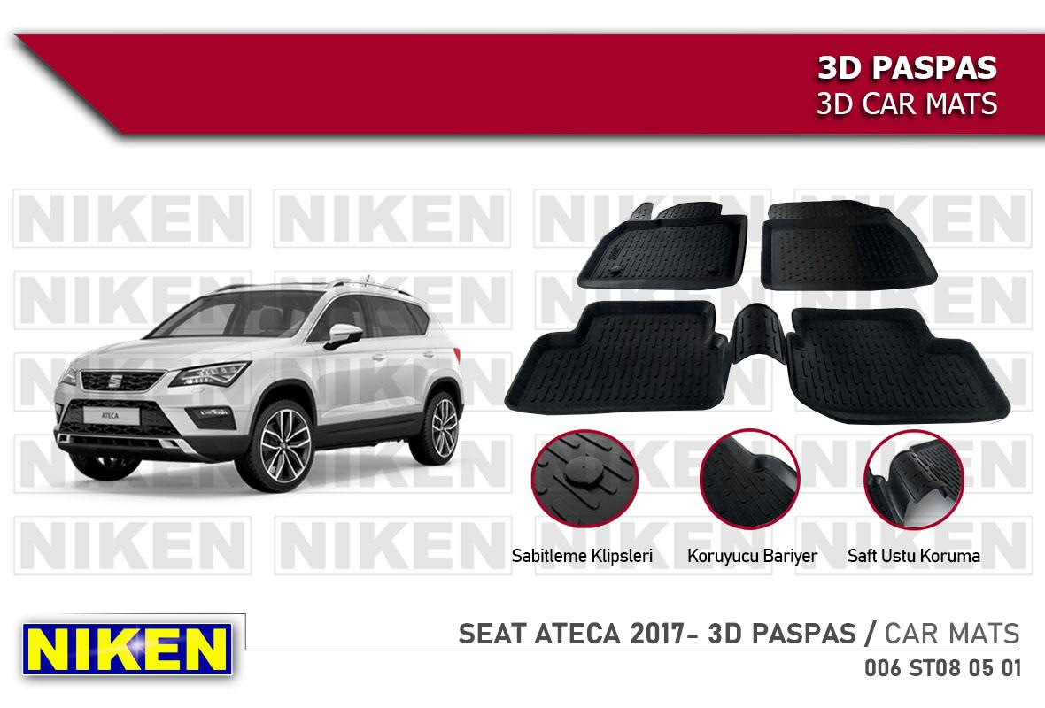 SEAT ATECA 2017- 3D CAR MATS