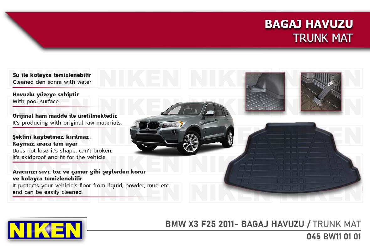 BMW X3 F25 2011- BAGAJ HAVUZU