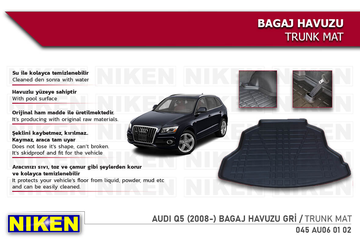 AUDI Q5 (2008-) BAGAJ HAVUZU  GRİ