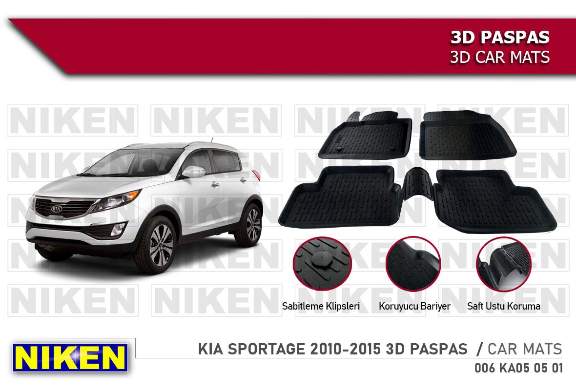 KIA SPORTAGE 2010-2015 3D CAR MATS