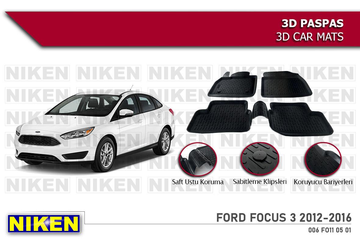 FORD FOCUS 3 2012-2016 3D PASPAS