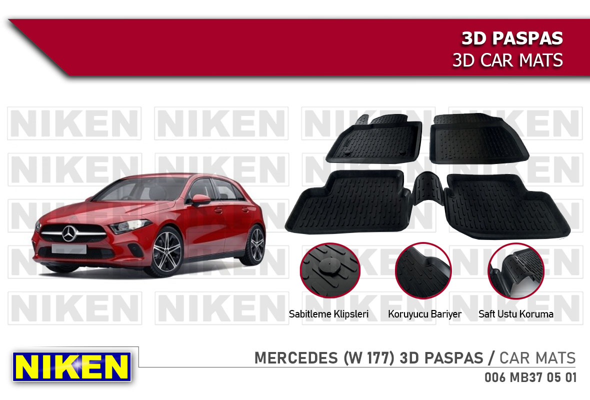 MERCEDES (W 177) A -Klasse 2019- 3D CAR MATS