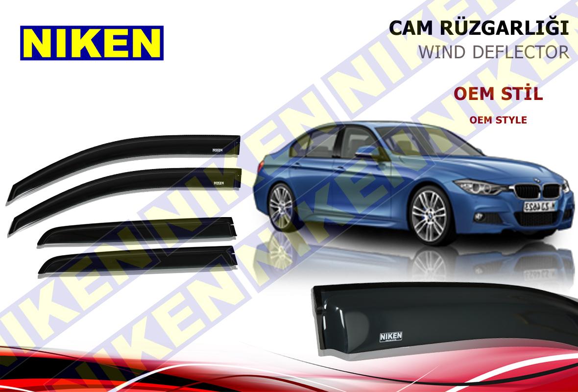 BMW 3 SERISI F30 2011- CAM RÜZGARLIĞI 4LÜ (PF-490)