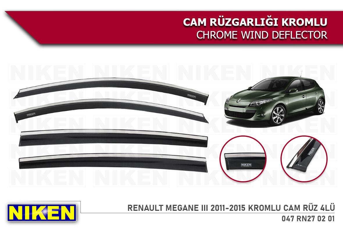 RENAULT MEGANE III 2011-2015 KROMLU CAM RÜZ 4LÜ