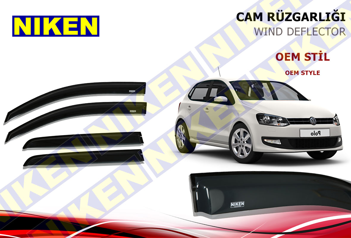 VW POLO 2011- CAM RÜZGARLIĞI 4LÜ