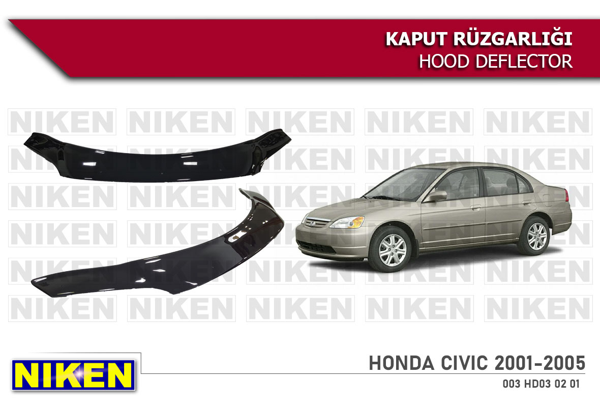 HONDA CIVIC 2001-2005 HOOD DEFLECTOR ECO