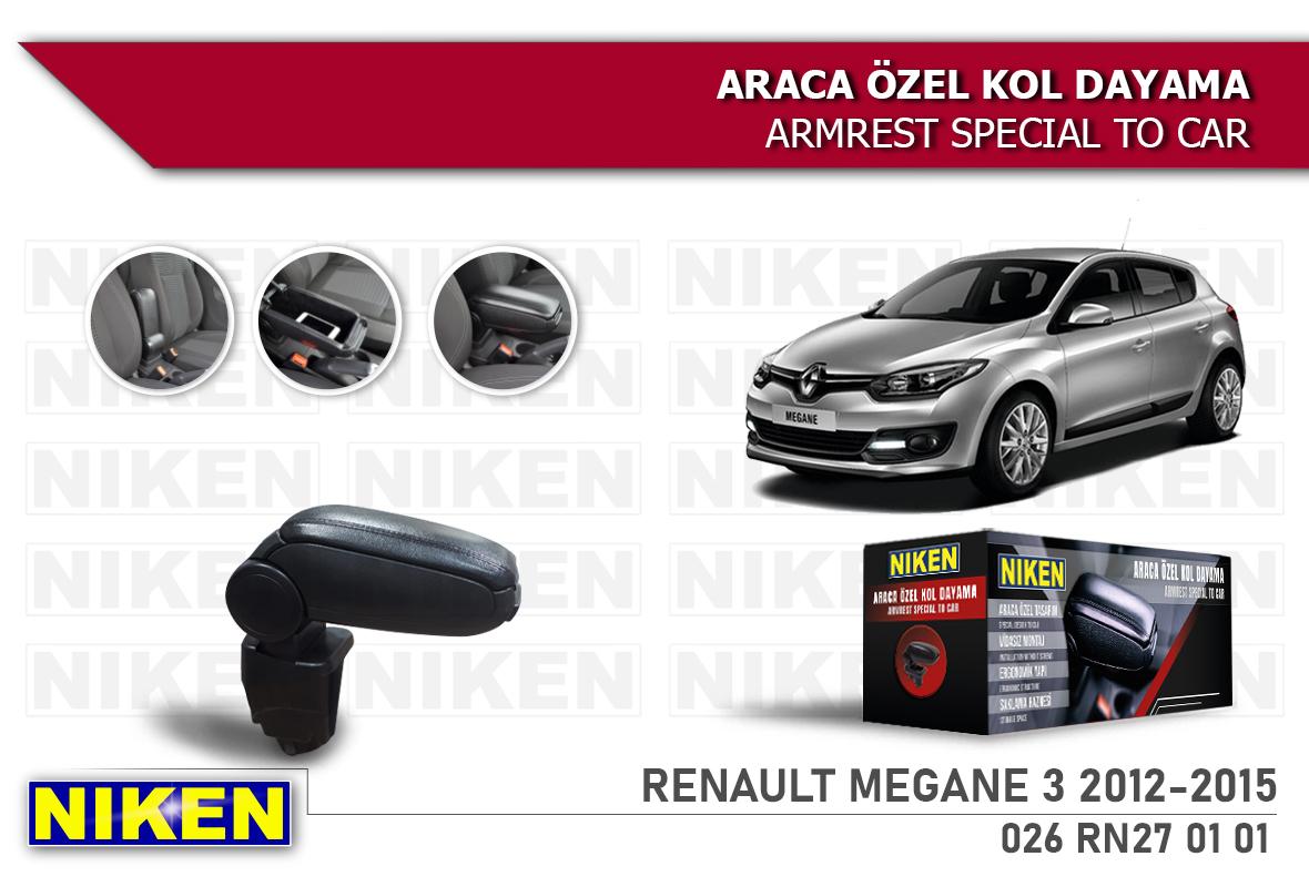 RENAULT MEGANE III 2012-2015 ARACA ÖZEL KOL DAYAMA