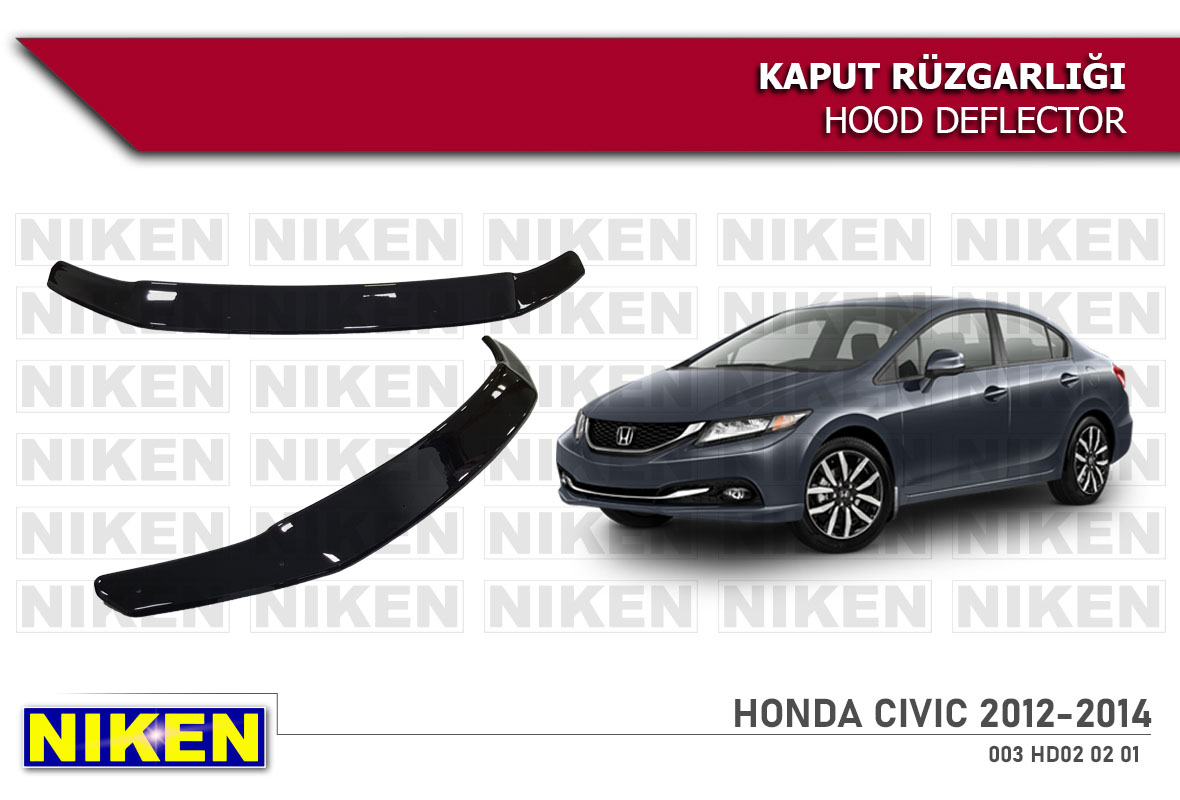 HONDA CIVIC 2012-2014 HOOD DEFLECTOR ECO