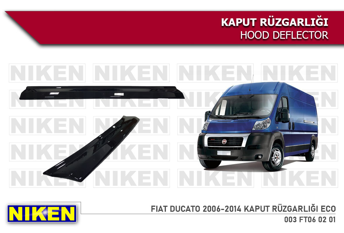 FIAT DUCATO 2006-2014  KAPUT RÜZGARLIĞI ECO