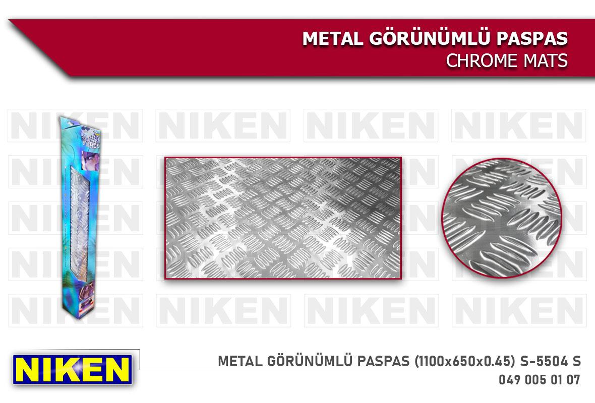 METAL GÖRÜNÜMLÜ PASPAS (1100x650x0.45)S-5504 S