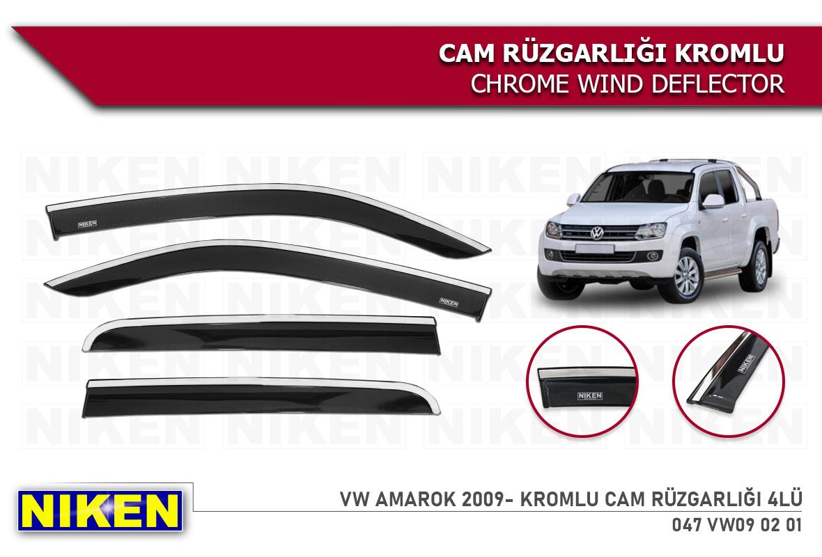 VW AMAROK 2009-  KROMLU CAM RÜZGARLIĞI 4LÜ