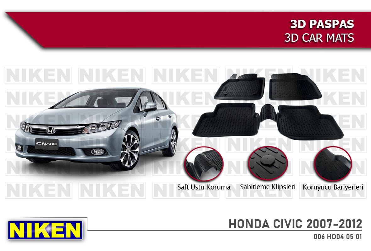 HONDA CIVIC 2007-2012 3D PASPAS