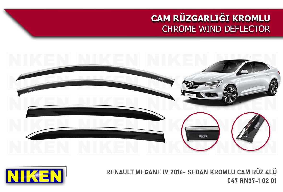 RENAULT MEGANE IV 2016- SEDAN KROMLU CAM RÜZ 4LÜ