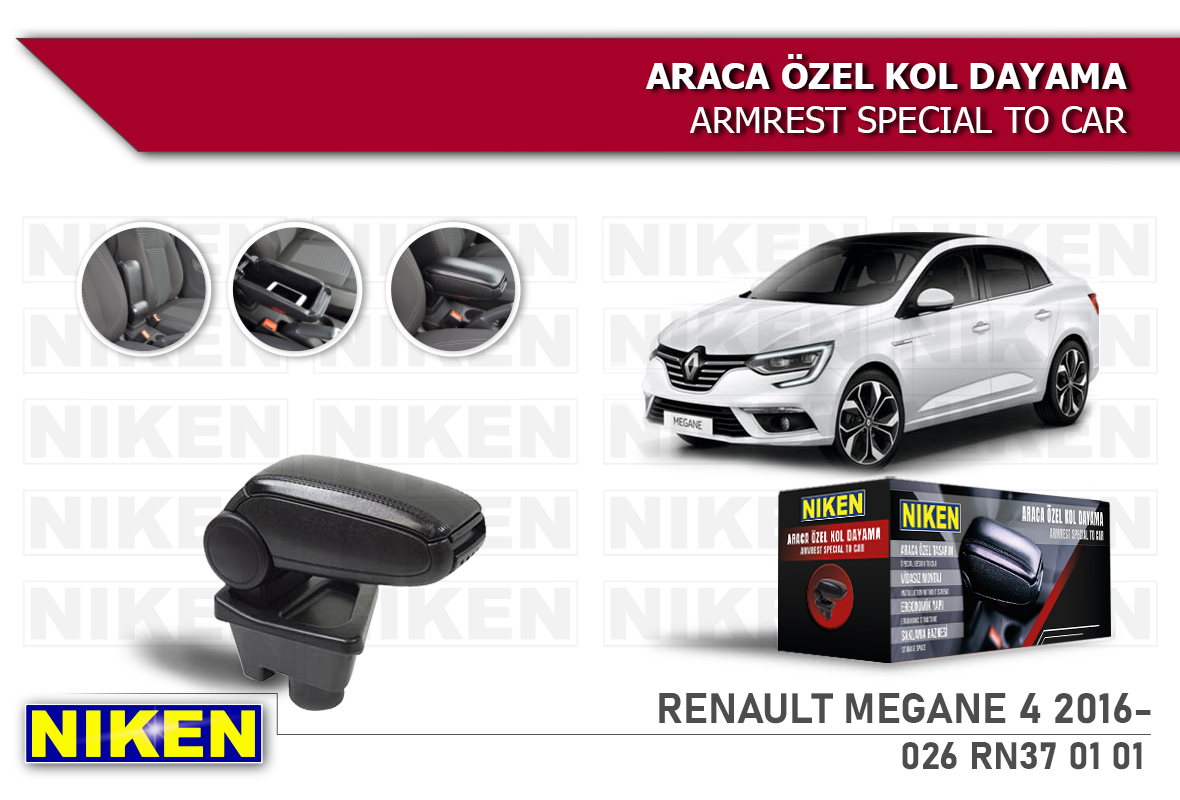 RENAULT MEGANE IV 2016- ARACA ÖZEL KOL DAYAMA