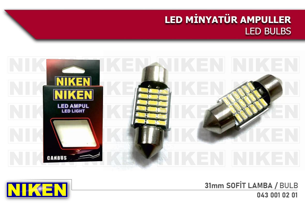 LED AMPUL SOFİT CANBUS LED 31MM