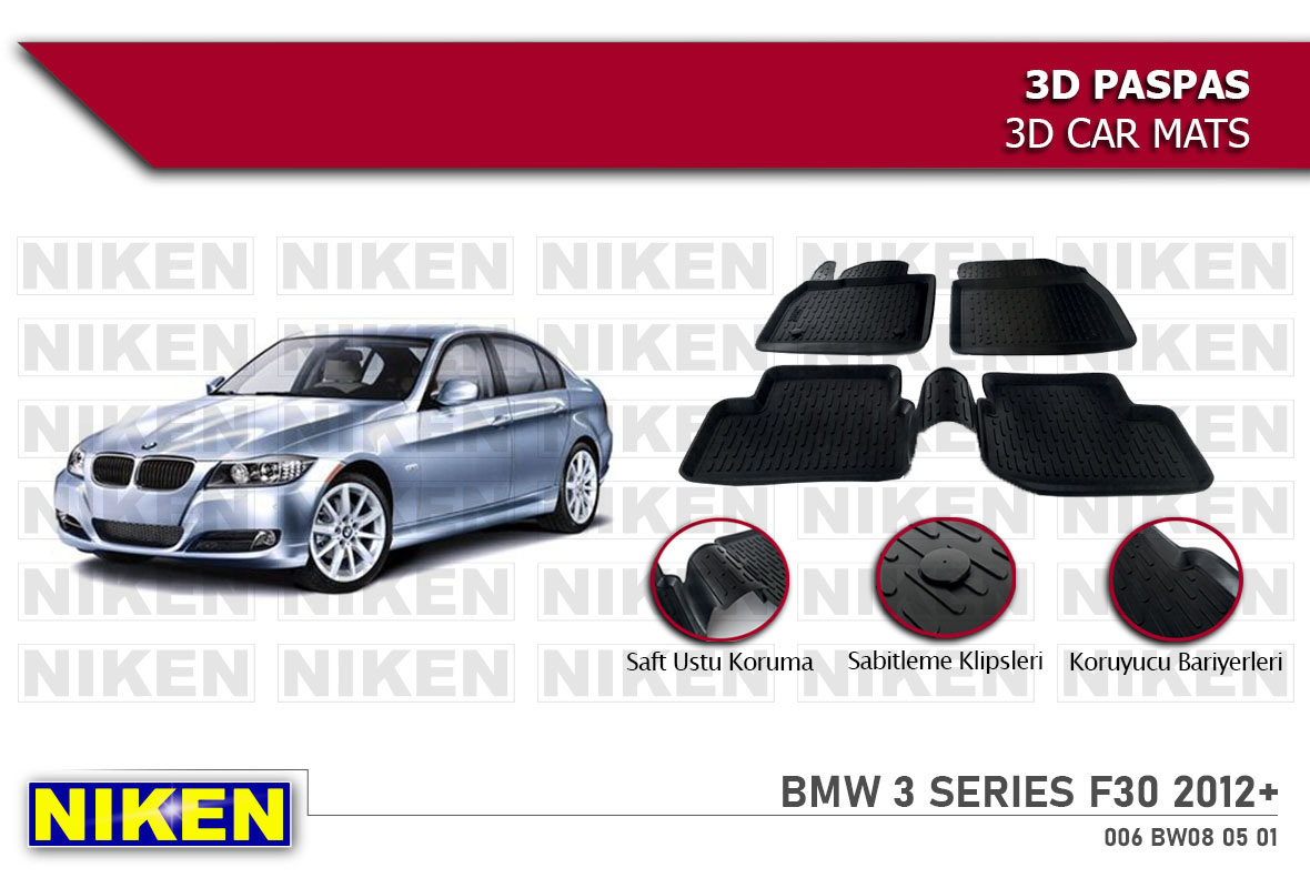 BMW 3 SERIES F30 2012- 3D PASPAS