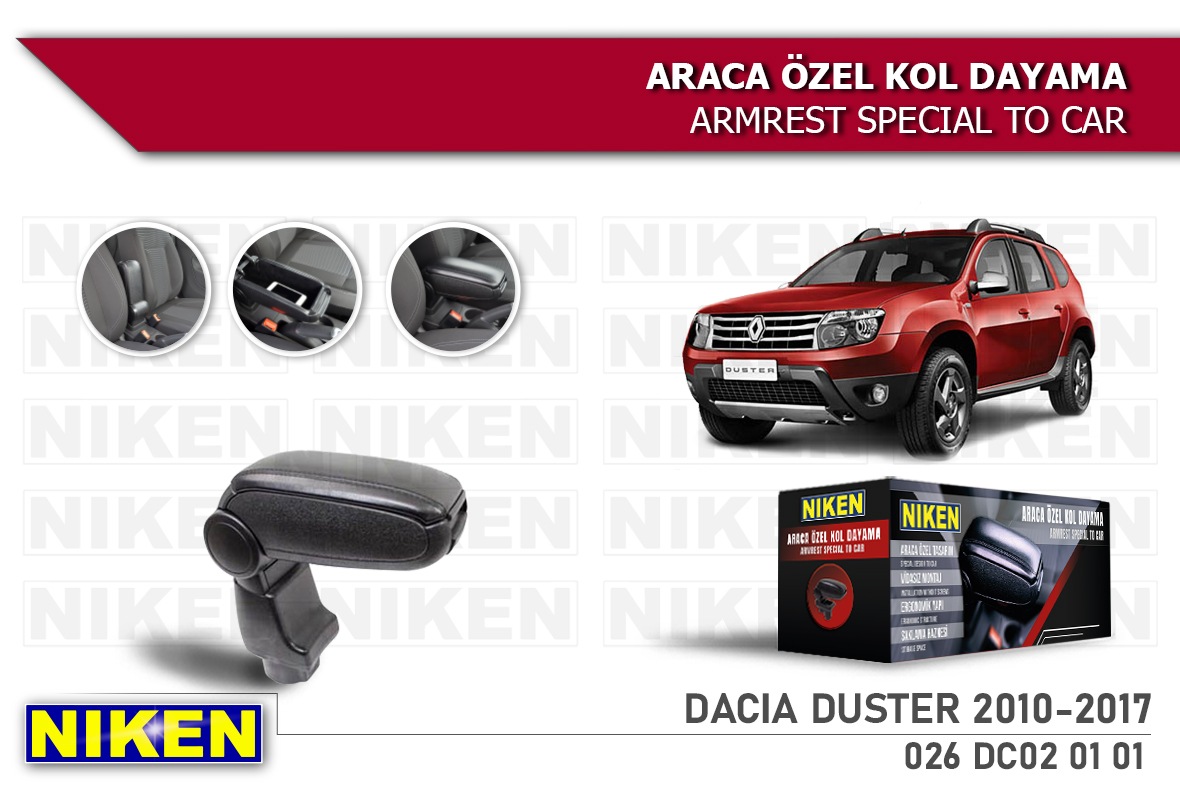 DACIA DUSTER 2010-2017 ARACA ÖZEL KOL DAYAMA SİYAH