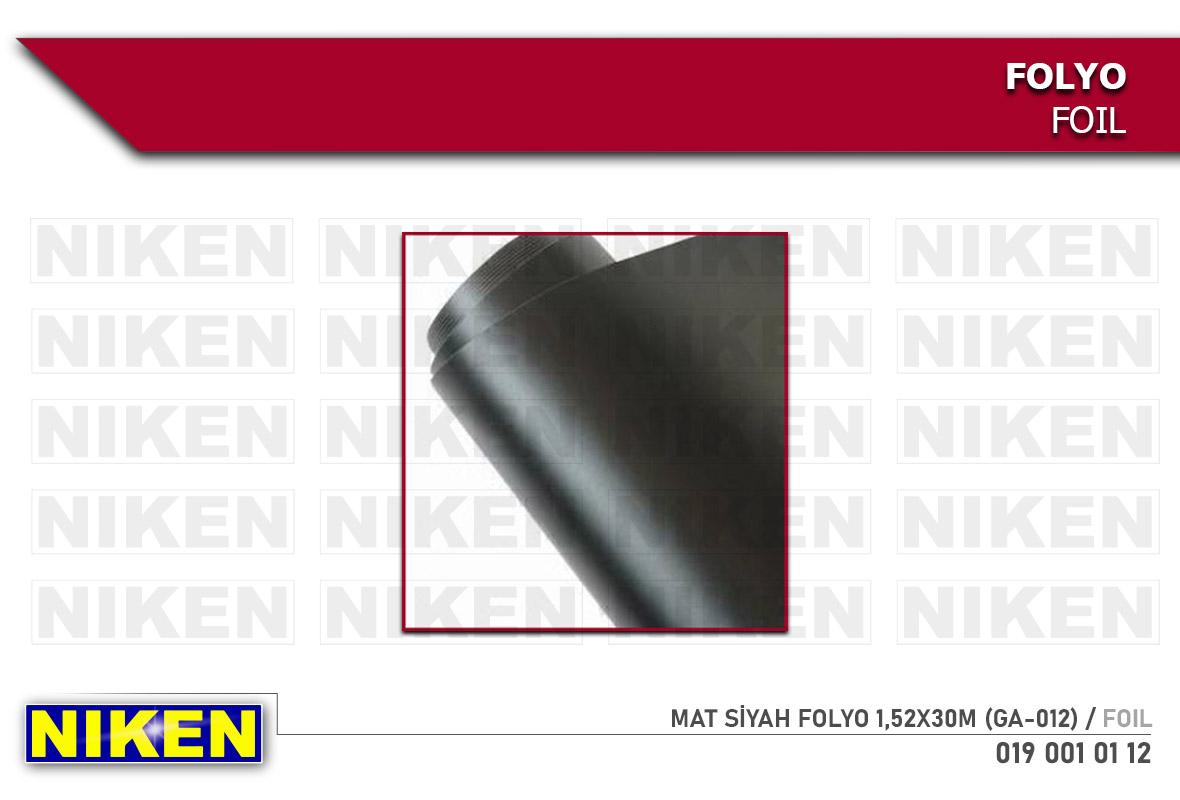 MAT SİYAH FOLYO 1,52X30M  (GA-012)