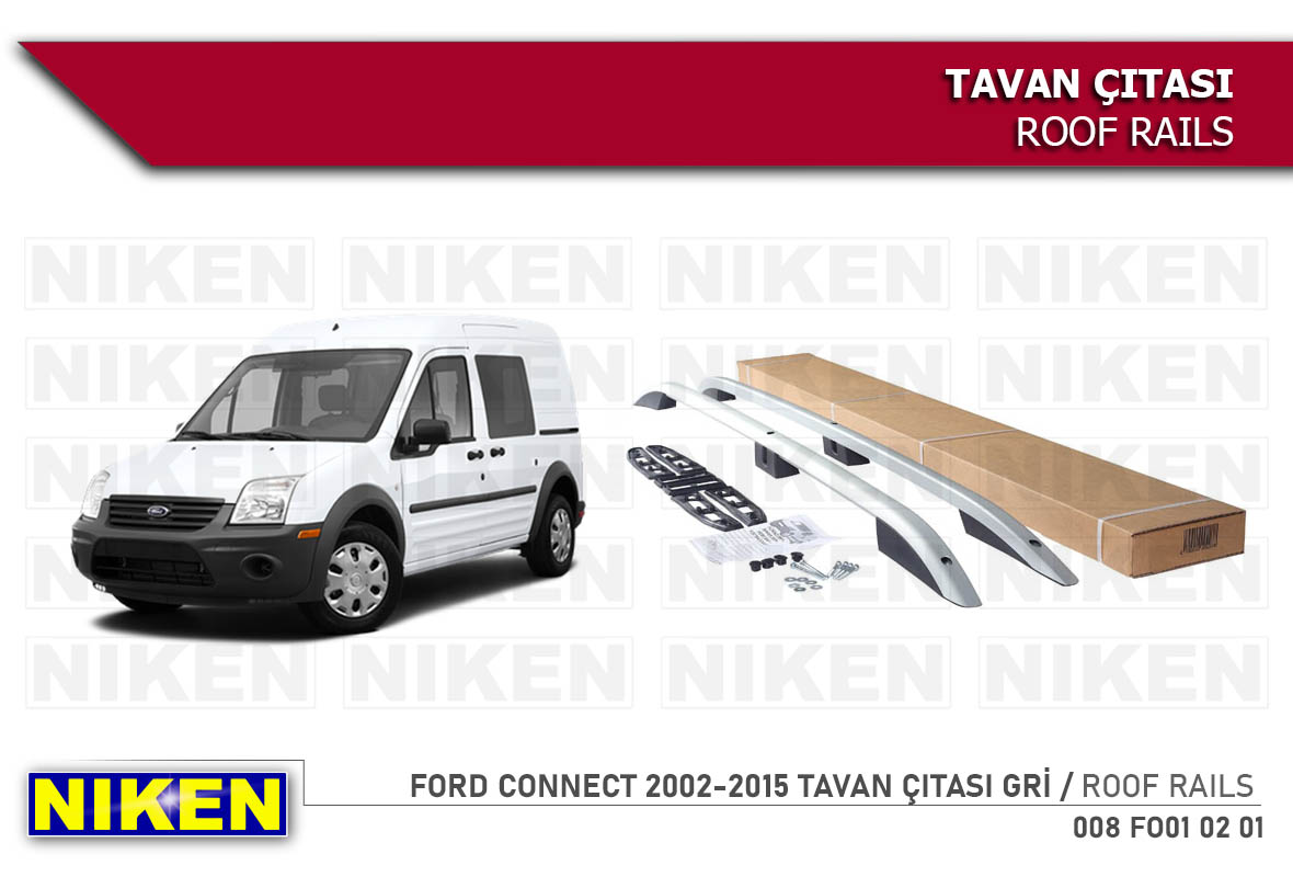 FORD CONNECT 2002-2015 TAVAN ÇITASI UZUN GRİ