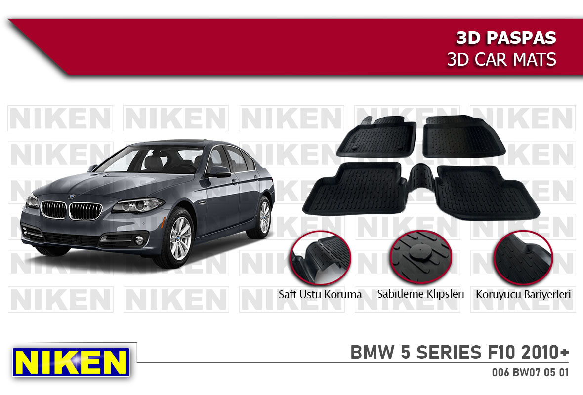BMW 5 SERIES F10 2010- 3D PASPAS
