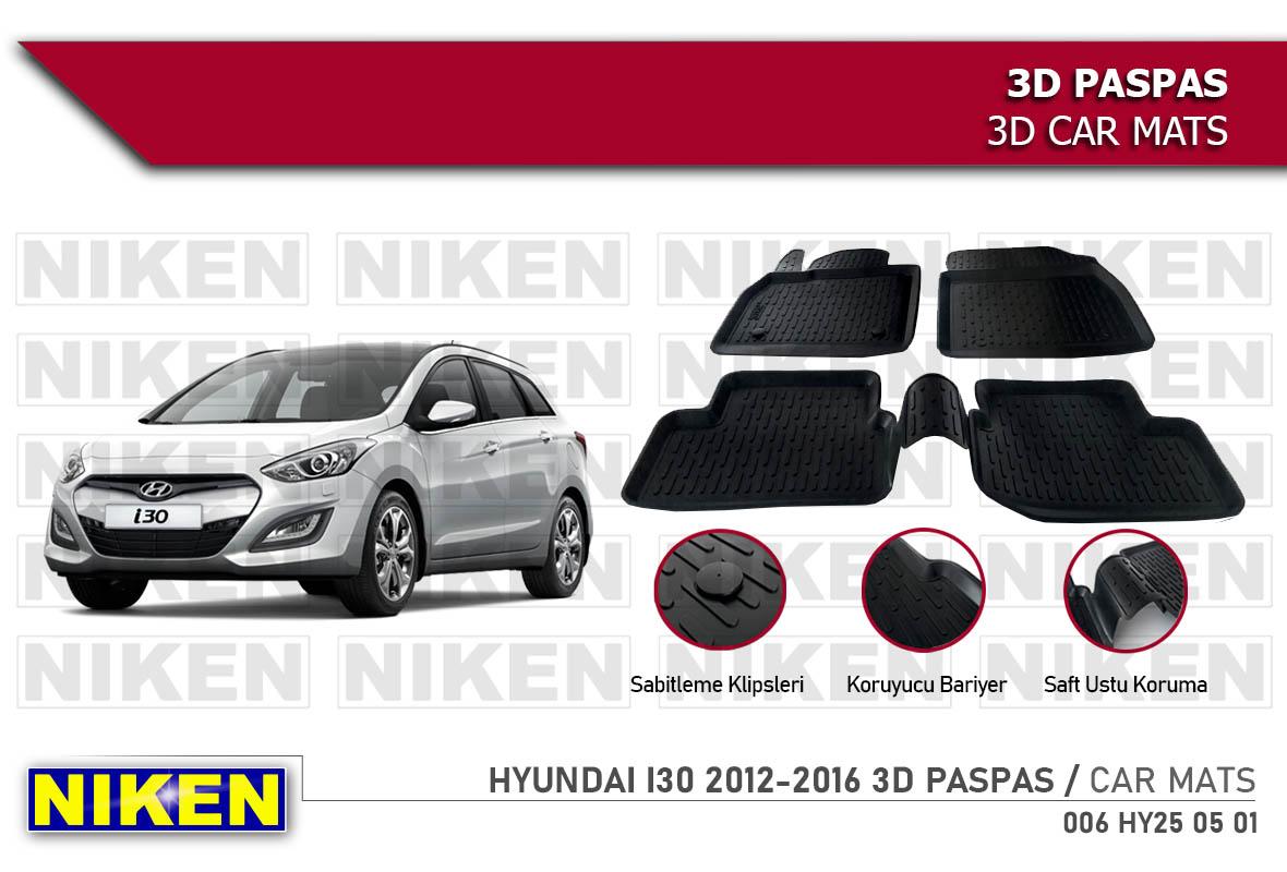 HYUNDAI I30 2012-2016 3D PASPAS