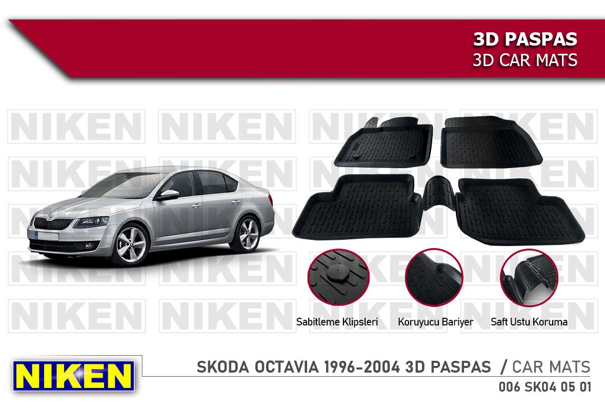 SKODA OCTAVIA 1996-2004 3D CAR MATS